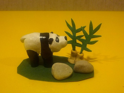 Panda Folk Art Sculpture