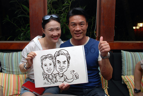 caricature live sketching for Mark Lee's daughter birthday party - 26
