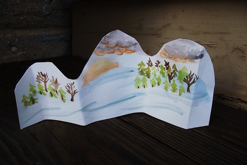 A cute 3d painted snowy scene
