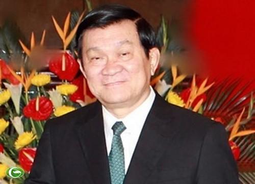 Hình ảnh Chủ tịch nước Trương Tấn Sang thăm cấp Nhà nước Brunei và Myanmar