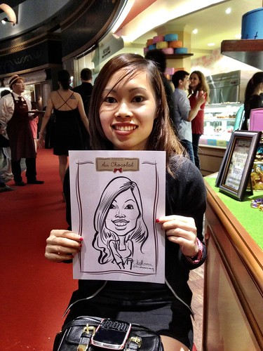 caricature live sketching for Au Chocolat Opening - 18