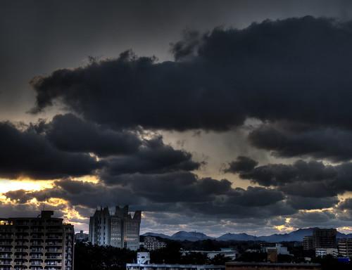 sunset japan clouds darkclouds kurosaki