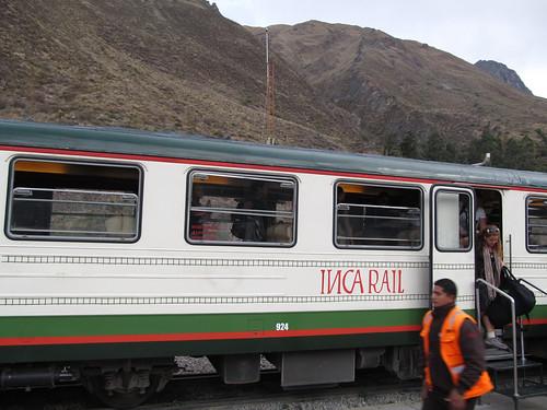 Train d'Aguas Calientes à Ollantaytambo