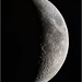 Last night's crescent moon (27% illuminated) from Weatherly, Pennsylvania.
