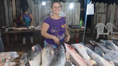 Hoje é dia de comer peixe da simpática feirinha do Infraero, lugar que escolhi para viver é ser feliz😂