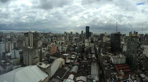 Buenos Aires: vue de notre appartement au 24e étage