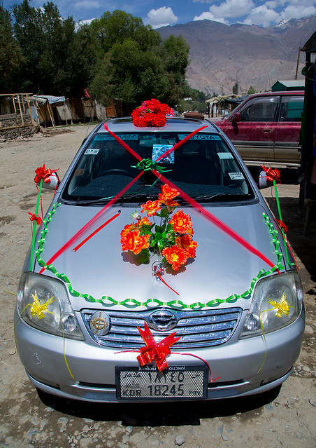Afghan car decorated for a wedding, Badakhshan province, Ishkashim, Afghanistan