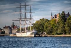 3-Masted Sailing Ship, af Chapman, docked at Skeppsholmen