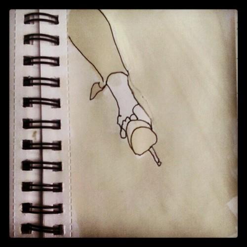 #drawing #ilustration #woman #leg #city #trash #series
