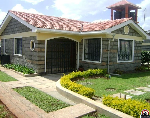 House plans with front garage in addition kenya three bedroom house