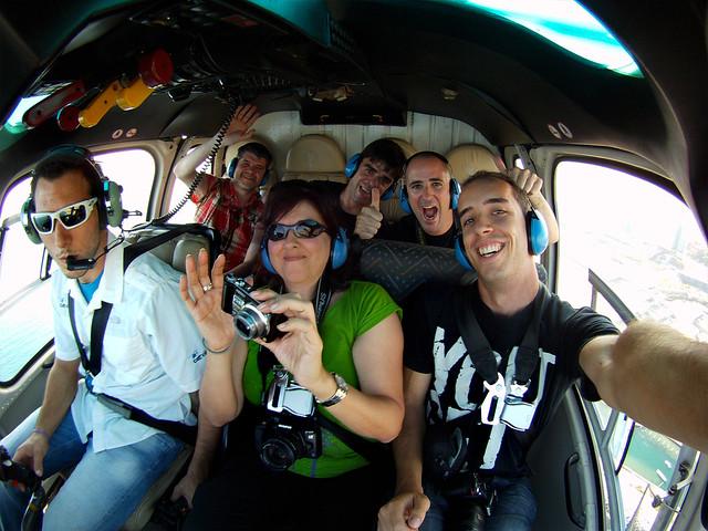 En helicóptero por Barcelona