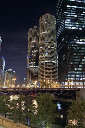 Chicago at Night by Craig Schultz