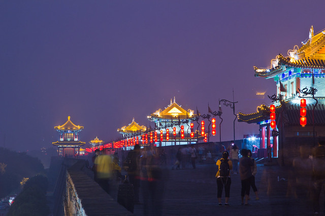 Xian City Walls at Night - Flickr CC capelle79