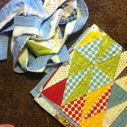Edges trimmed, time to pick binding fabric and get this done because I'm #notgoingtosewingsummit.