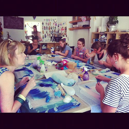 Felt-making with Brown Owls at Imogen's Art Space #brownowls