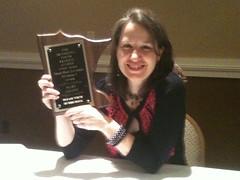 Mary Amato and the Maud Hart Lovelace Award 2012