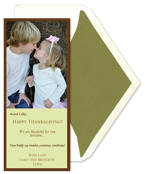 Thanksgiving Card Activity for Children