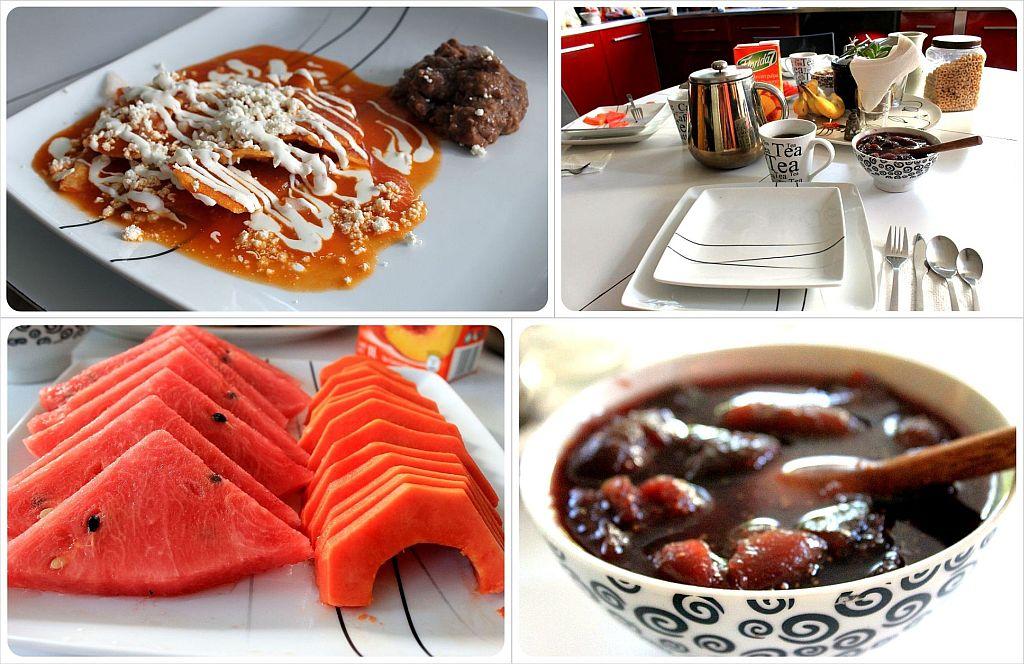Casa Roa Mexico City homemade breakfast