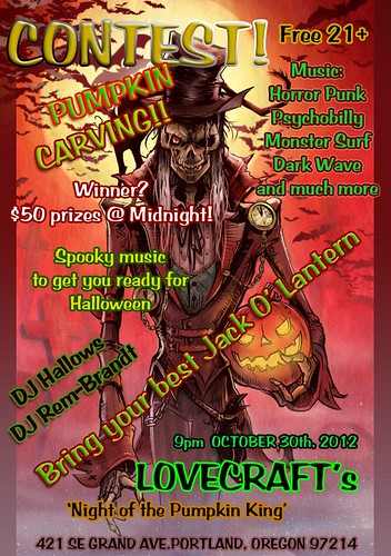 Night of the Pumpkin King @ Lovecraft Bar | FREE, Music, Jack-O
