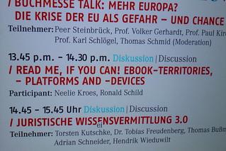 Veranstaltungen auf der Frankfurter Buchemesse
