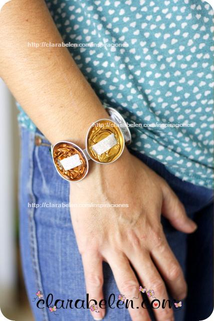 Como hacer una pulsera y un cinturón con cápsulas de Nespresso recicladas