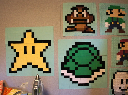 Super Mario Bros QAL - A few of the blocks