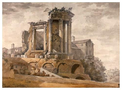 009-Templo de la Sibila en Tivoli- Charles-Louis Clérisseau- State Museum Hermitage