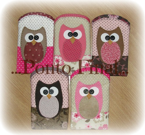 ...Porta celular coruja... by Ponto Final - Patchwork
