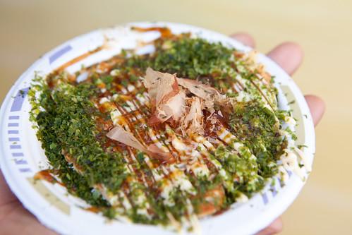 Okadaman: Squid okonomiyaki