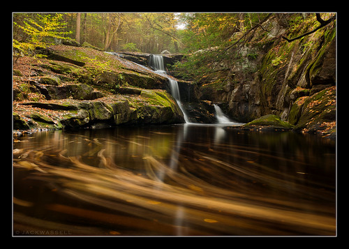 longexposure autumn light fall water leaves waterfall moving movement rocks connecticut wideangle granby current enders endersfalls jackwassell