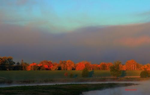 morning autumn sun fall nature sunshine sunrise landscape hdr sciotoriver riversandstreams rosscounty chillicotheohio ohiofoothills