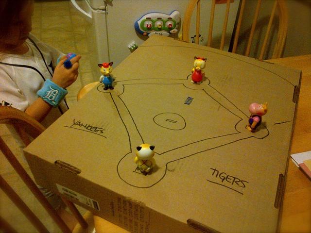 Cardboard baseball game