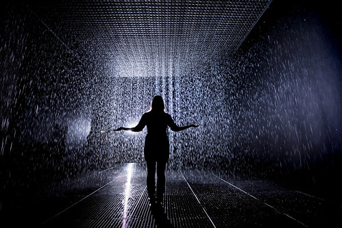 15. Rain Room Installation images © Felix Clay. Rain Room - Random International 2012. Courtesy of Barbican Art Gallery