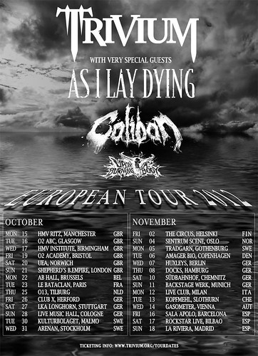 Trivium Spanish Tour 2012