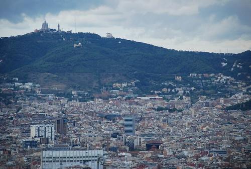 Barcellona - veduta dal castello di montjuic