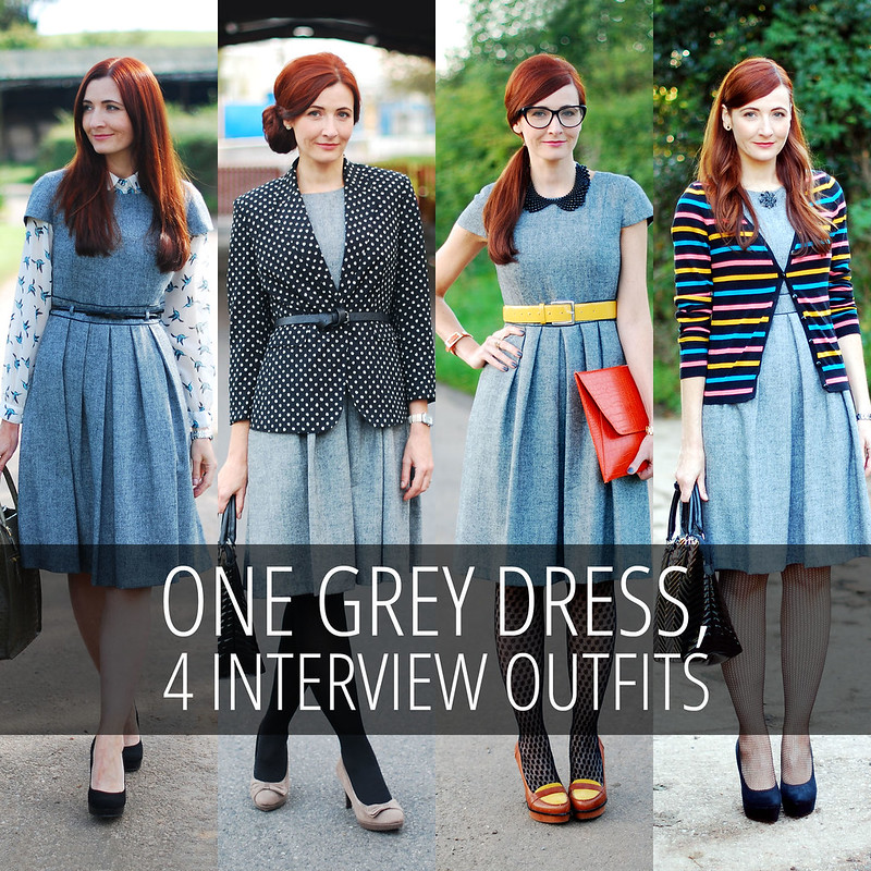 Four Ways to Wear - One Dress, Four Interview Outfits