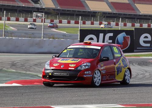 Oscar Nogués en Eurocup Clio en Circuit de Catalunya
