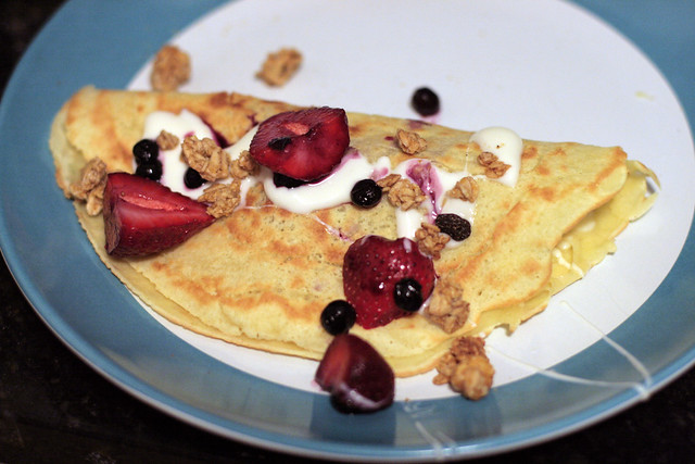 Yogurt Berry Crepes