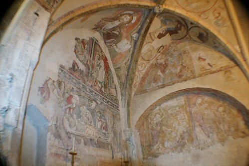 12th century paintings in Holy Sepulchre Chapel