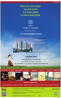 Launch Ad of Gera's Trinity Towers Kharadi Pune 411014