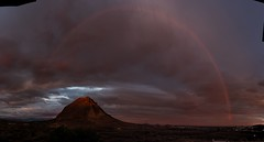 Fon Calent mountain with a rainbow