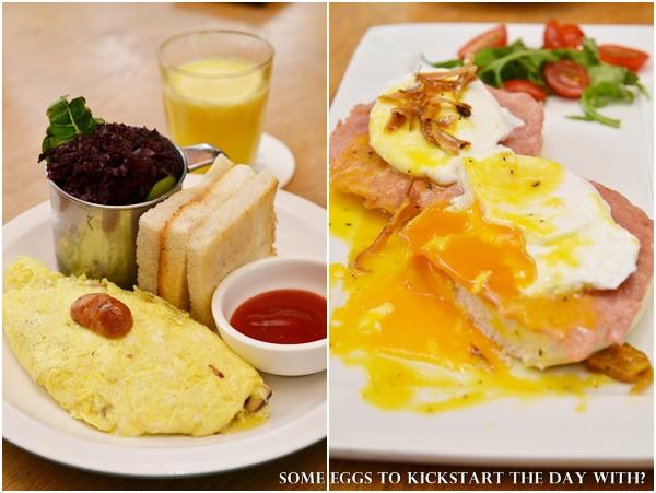 Malaya Egg Benedict & Omelette