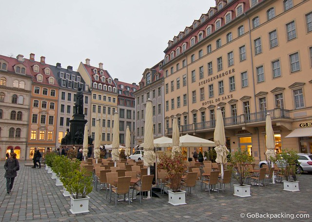 Al fresco dining near Frauenkirche