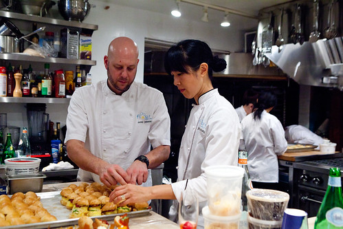 Executive Chef (savory side) Corey Johnson and Owner Joanne Chang of  Flour Bakery, Boston, MA