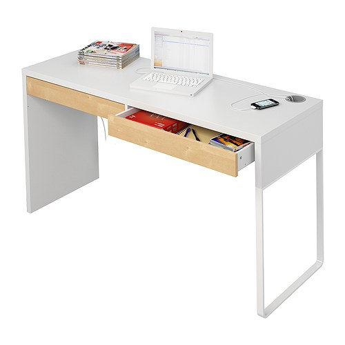 White micke desk flickr photo sharing for Bureau blanc ikea