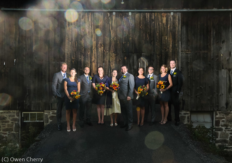 Wedding Party Outside the Barn