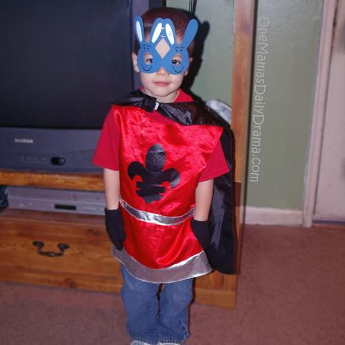 Last-minute costume: super hero | One Mama's Daily Drama