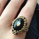vintage opal ring from yard sale in Flushing