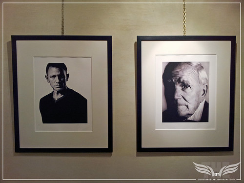 The Establishing Shot: THE 007 PROJECT EXHIBITION AT MOUNT STREET GALLERIES - ANDY GOTTS  –  SKYFALL DANIEL CRAIG (2012) & THE GLINT OF Q DESMOND LLEWELLYN (1999) by Craig Grobler