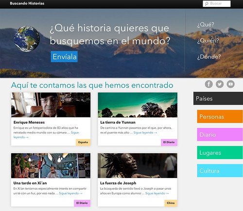 web buscando historias preview